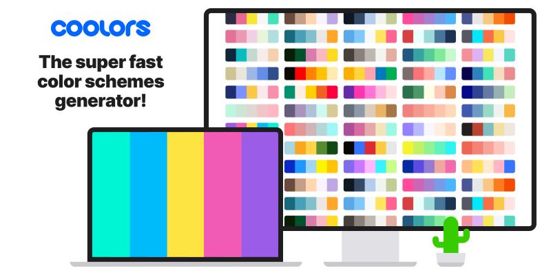 Coolors - Le générateur de jeux de couleurs super rapide!