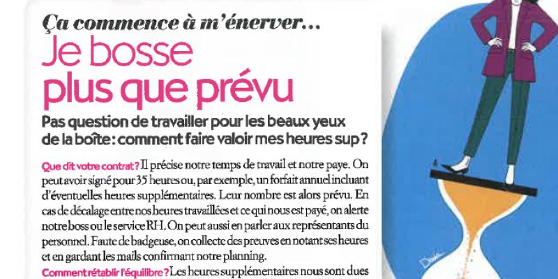 Je bosse plus que prévu - Interview mars 2020 Biba Magazine | Aurélie Arnaud, Droit du Travail Paris 8