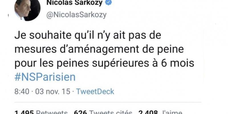 Sarkozy contre l'aménagement au-delà 6 mois