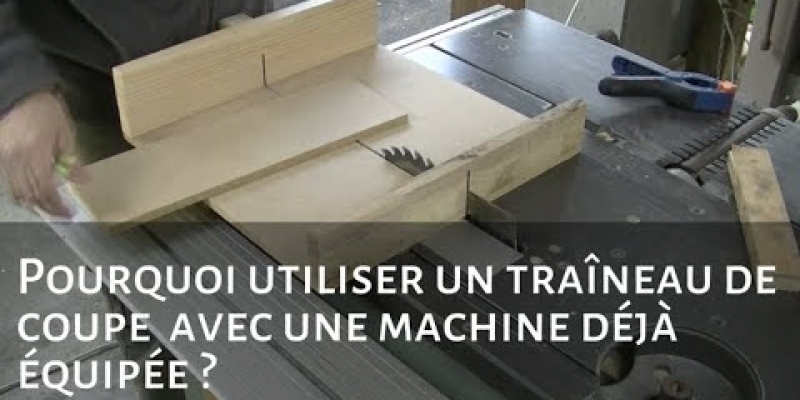 Mini traîneau de coupe pour scie sur table