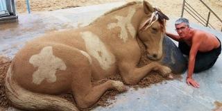 Ce sculpteur sur sable impressionne avec des oeuvres très réalistes