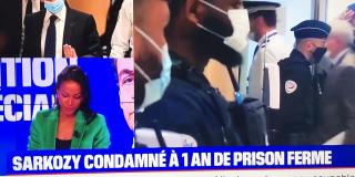 Sarkozy condamné à 1 an de prison ferme