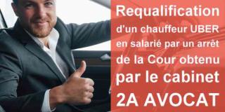 Uber: requalification d'un chauffeur en salarié